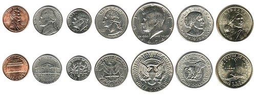 سکه های رایج کشور امریکا