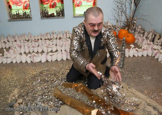 پنج میلیون سکه در جیب یک مرد روسی