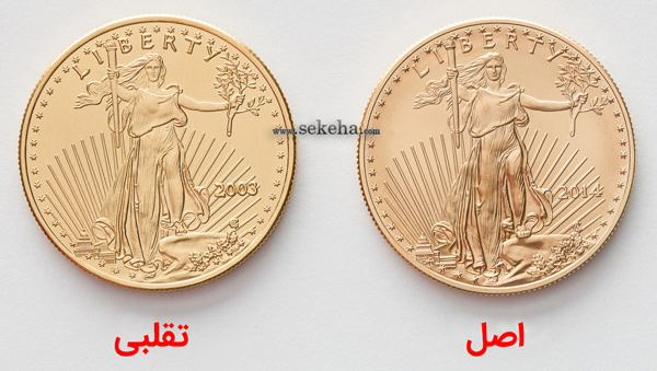 fake vs original gold eagle coins