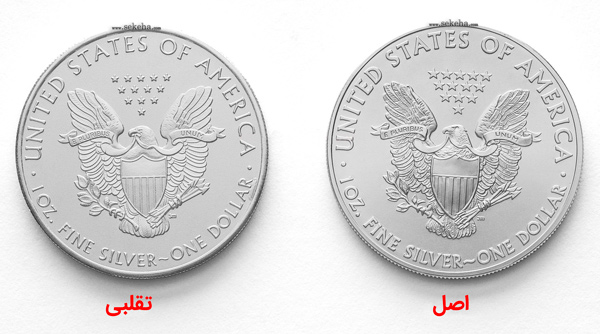 fake vs original silver eagle coins